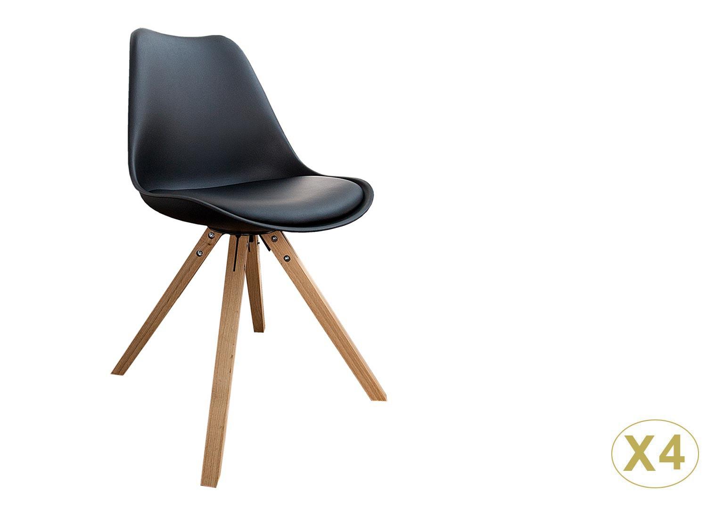 Chaises coque scandinave noire pas cher