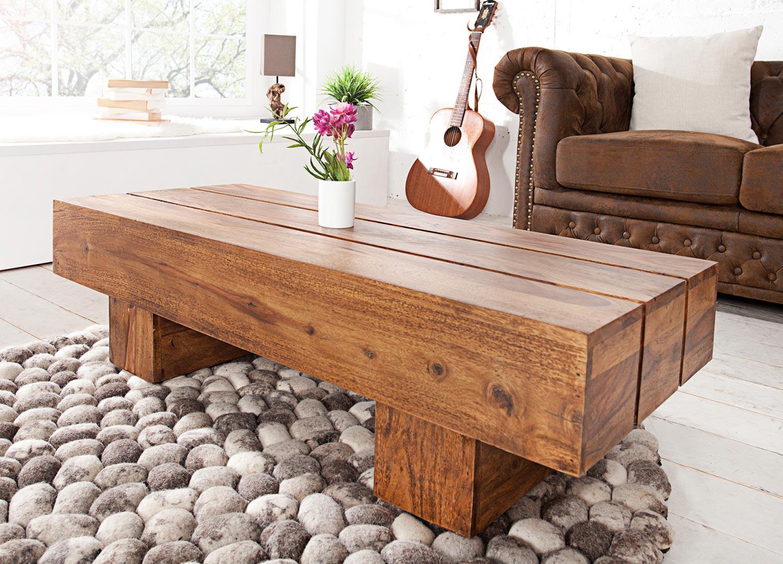 Table basse rectangulaire bois massif sesham 1m
