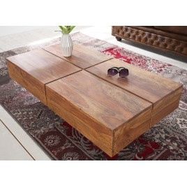 Table basse rectangulaire bois massif sesham 1m10