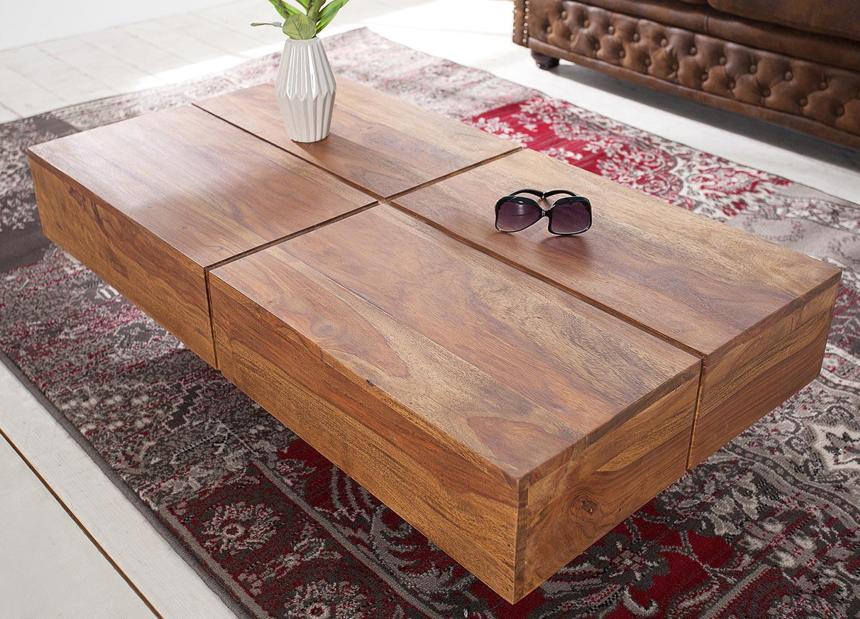 Table basse rectangulaire bois massif sesham 1m10