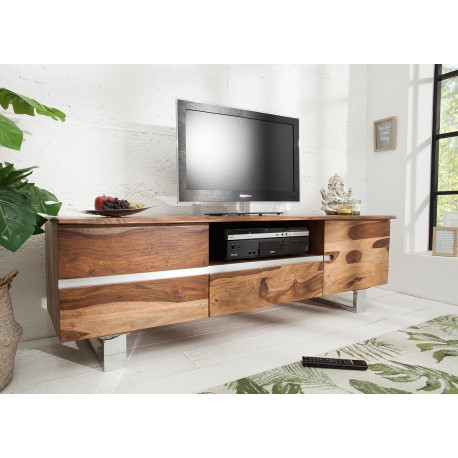 Meuble TV bois massif sesham 160 cm