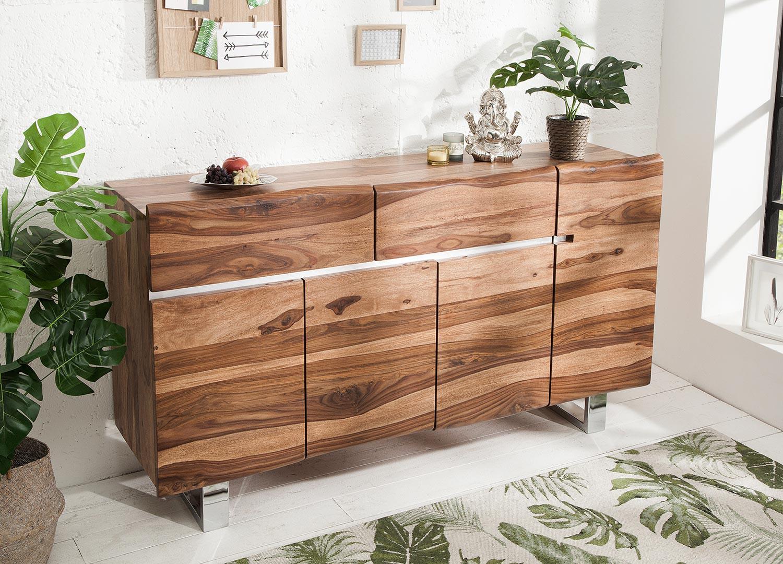 Buffet bois massif sesham 170 cm
