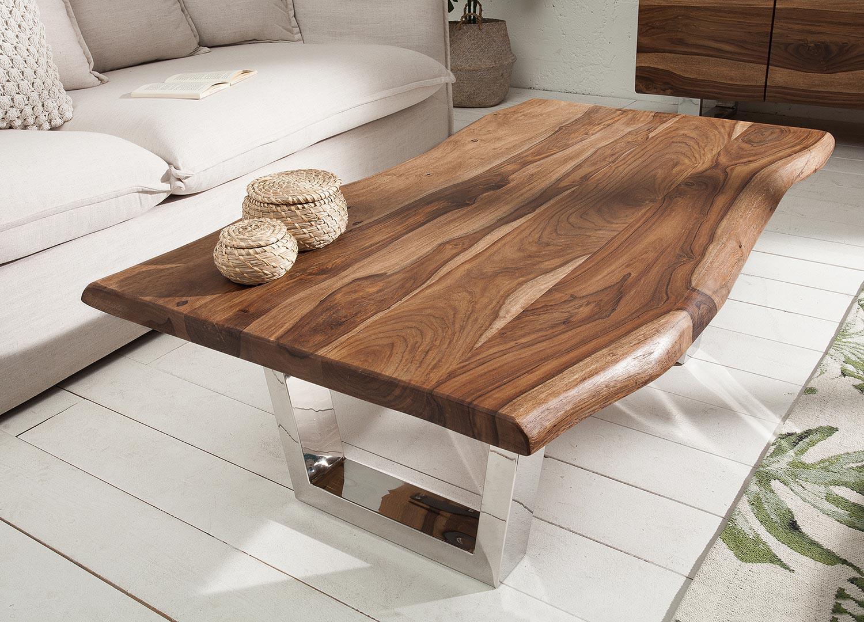 Table basse rectangulaire bois sesham 110 cm