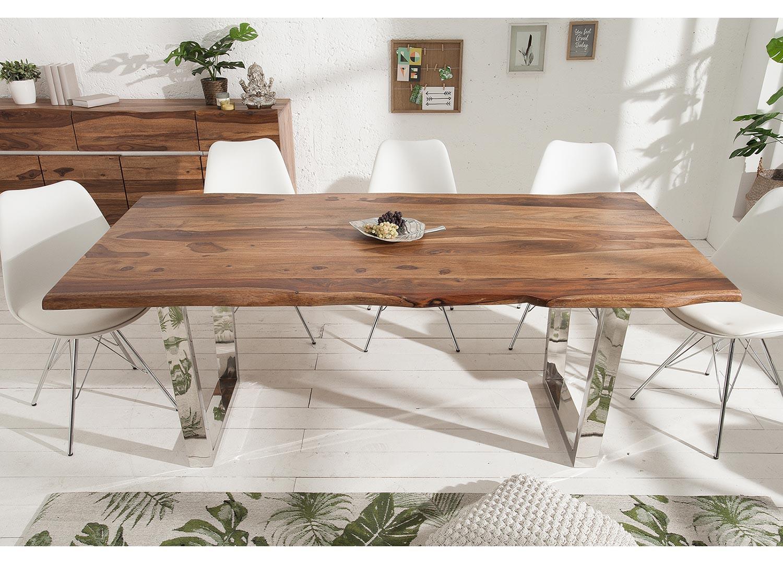 Table en bois massif sesham 180 cm
