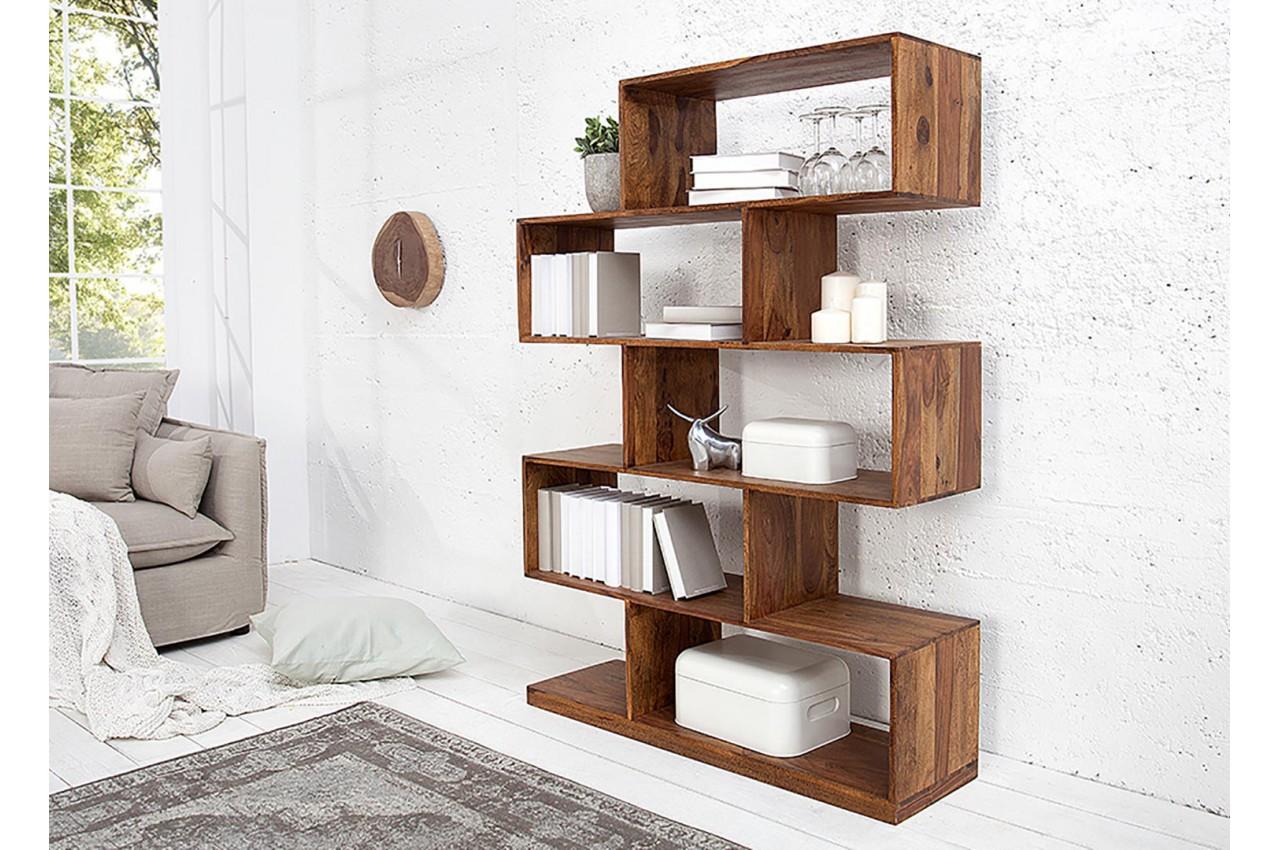 biblioth que en bois massif sesham 5 compartiments cbc. Black Bedroom Furniture Sets. Home Design Ideas