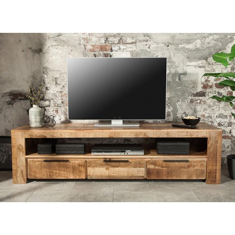 meuble tv bois massif moderne 170 cm cbc meubles. Black Bedroom Furniture Sets. Home Design Ideas