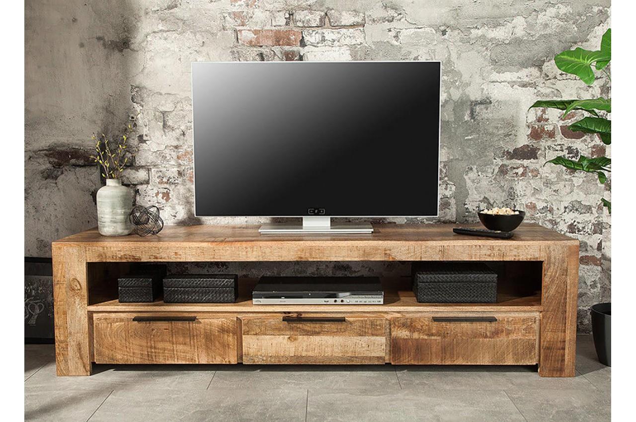 meuble tv bois massif moderne 170 cm cbc meubles. Black Bedroom Furniture Sets. Home Design Ideas
