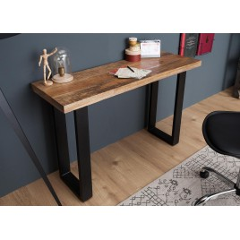 Table console design bois massif 115 cm
