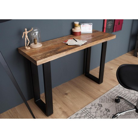 Table Console Design Bois Massif 115 Cm Cbc Meubles