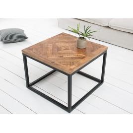 Table basse carrée plateau bois massif 60 cm
