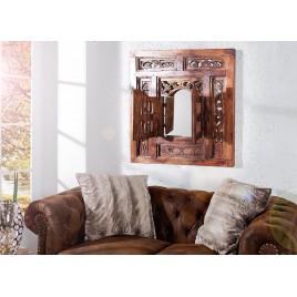 Miroir oriental fenêtre en bois d'acajou