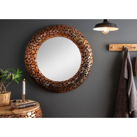 Miroir rond effet mosaïque 82 cm