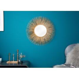 Miroir soleil métal doré 61 cm