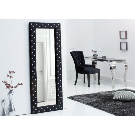 Miroir rectangulaire style baroque velours et strass
