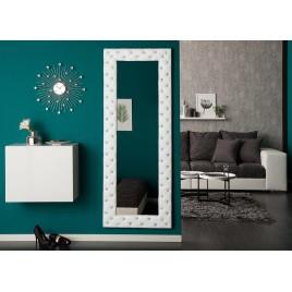 Miroir rectangulaire strass blanc 170 cm