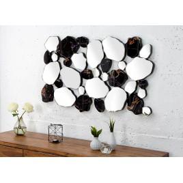 Miroir mural verre de miroir et aspect marbre 90 cm