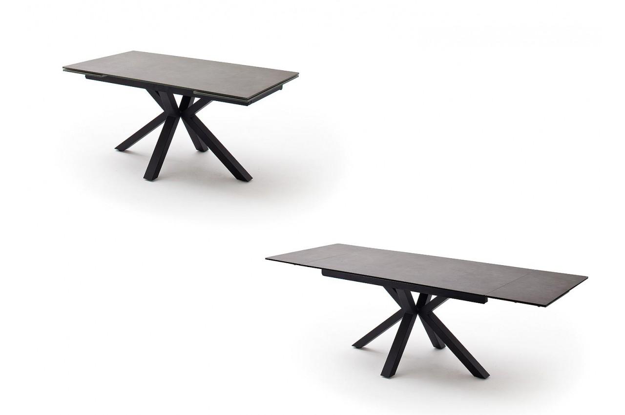 Table A Manger Plateau Extensible Ceramique Et Pietement Croise
