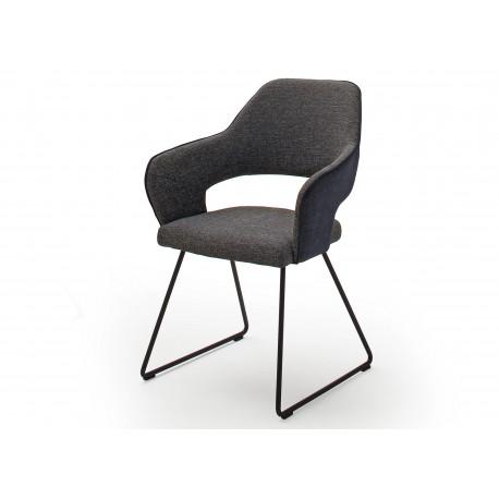 Chaises modernes avec accoudoirs pied luge