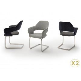 Chaises modernes avec accoudoirs pied traîneau