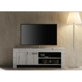 Meuble TV chêne blanchi 140 cm