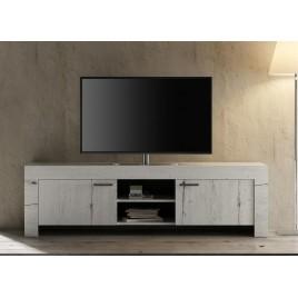 Meuble TV chêne blanc contemporain 180 cm