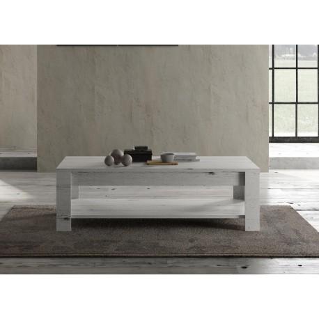 Table basse rectangulaire chêne blanc 140 cm