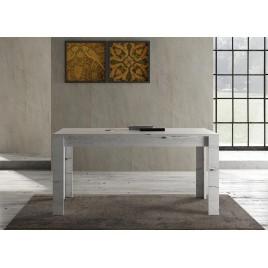 Table à manger en bois chêne blanchi 1m60