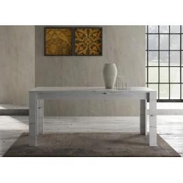 Table à manger en bois chêne blanchi 1m80
