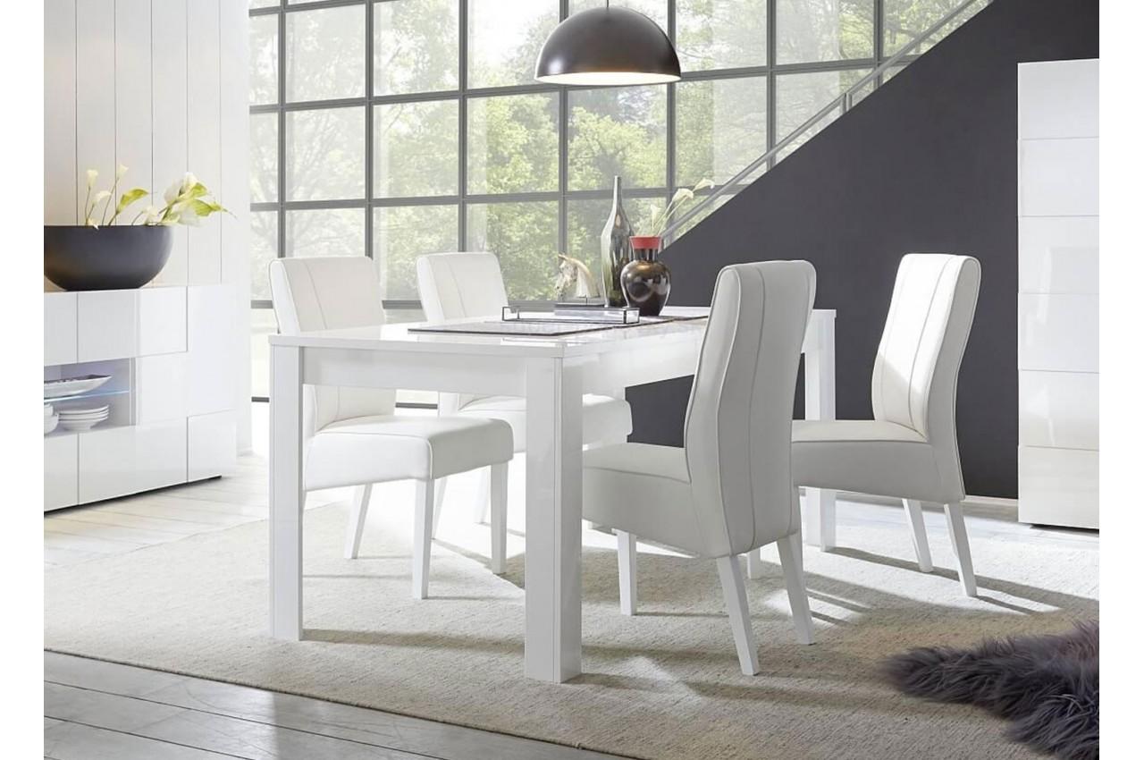 Salle à manger complète blanc laqué - Cbc-Meubles