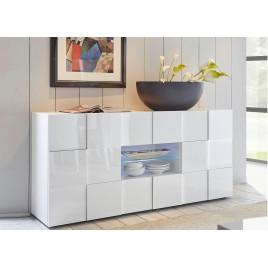 Buffet design blanc laqué 181 cm