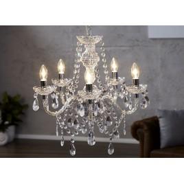 Lustre luminaire baroque cristal