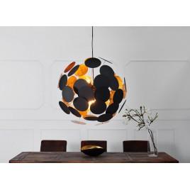 Suspension design moderne boule noir et doré Ø 70 cm