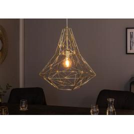 Suspension luminaire métal doré 52 cm