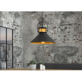Luminaire design esprit loft métal noir