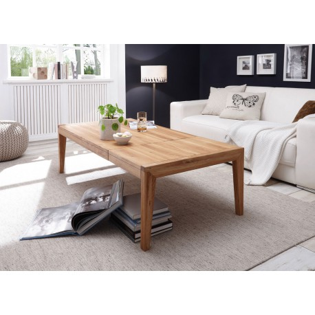 Table basse rectangulaire extensible chêne massif