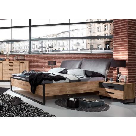 Lit style industriel vintage 160x200 cm