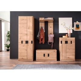 Meubles d'entrée en bois et gris anthracite