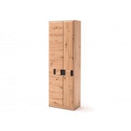 Armoire d'entrée 2 portes en bois et gris anthracite