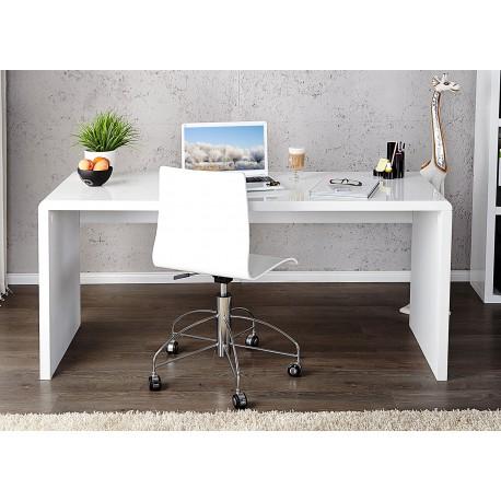 Bureau blanc brillant 120 cm