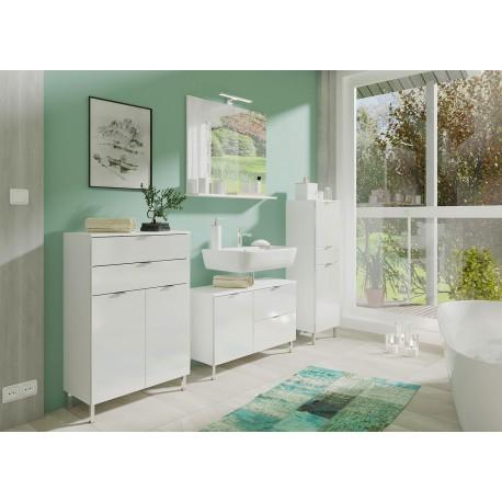 Ensemble meubles salle de bain blanc - Cbc-Meubles