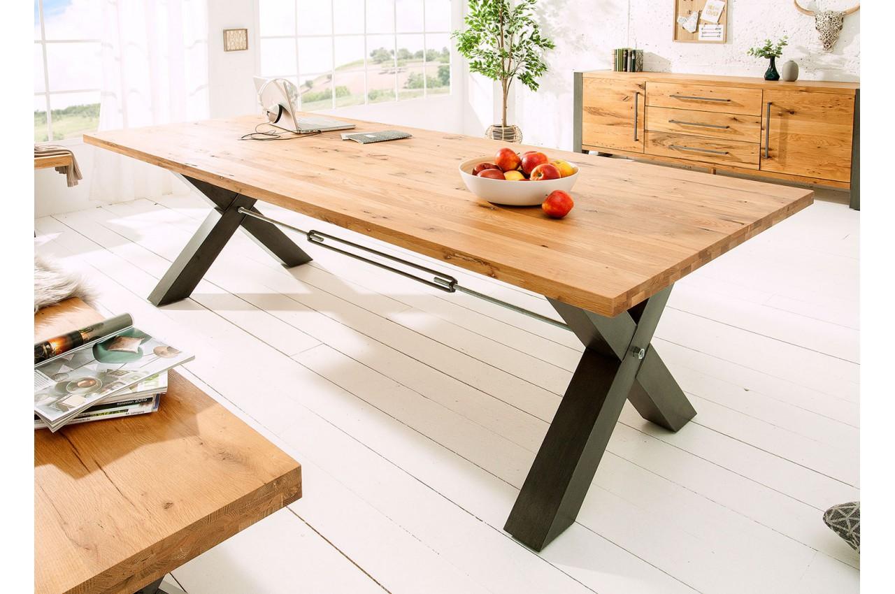 Table de salle à manger 6m bois massif et métal - Cbc-Meubles