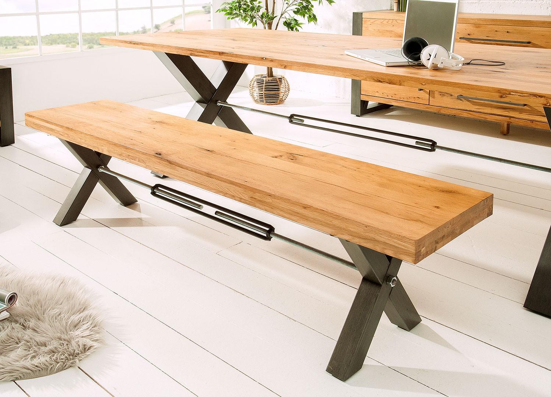 Banc D Entrée En Palette banc de salle à manger 180 cm bois massif et métal - cbc-meubles