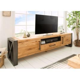 Meuble tv chêne sauvage huilé 200 cm