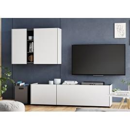 Meuble tv blanc et anthracite