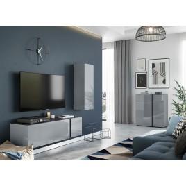 Ensemble de meubles pour salon verre gris