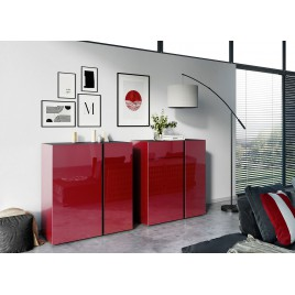 Commode rouge rubis et graphite - 2 versions
