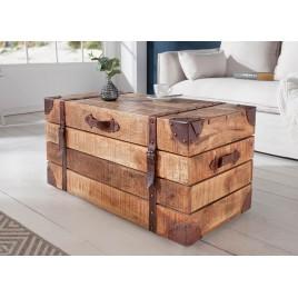 Table basse coffre rectangulaire bois massif 82 cm