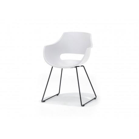 Lot de 4 chaises design pied luge
