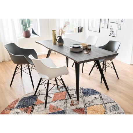 Table de salle à manger chêne grisé 180 cm