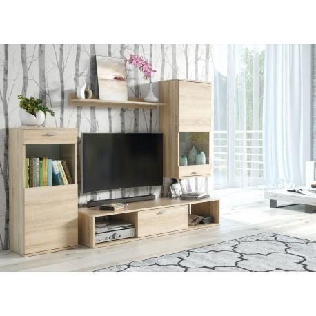 Meuble tv chêne clair 1m80 pas cher